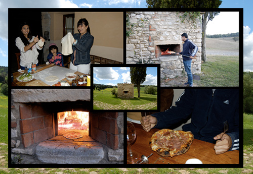 The wood stone oven of Tuscan Villa