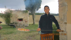 the pizza time at the villa
