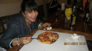 the pizza at the villa