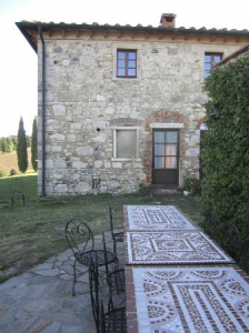 the mosaic table of the villa