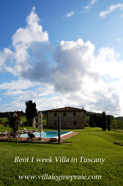 rent villa tuscany one week