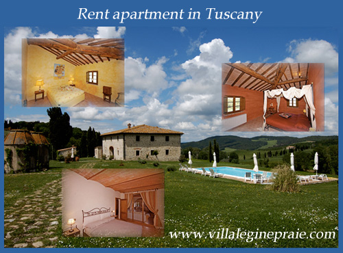 Apartment in Tuscany easter, april, may and June