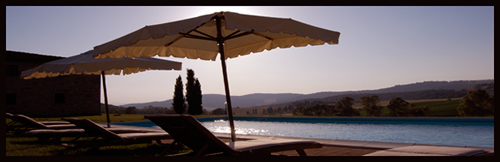 relax by the pool of the villa