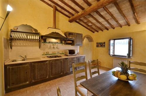 the kitchen of the tuscan villa