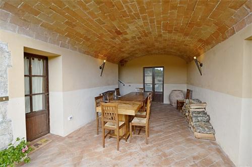 the loggia of the tuscan villa