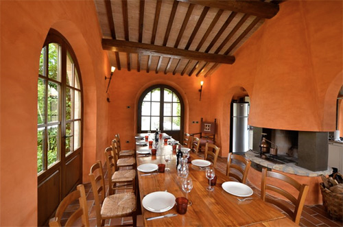 restaurant of the tuscan villa
