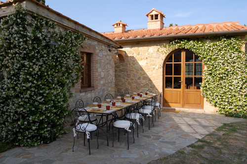 the terrace of the villa