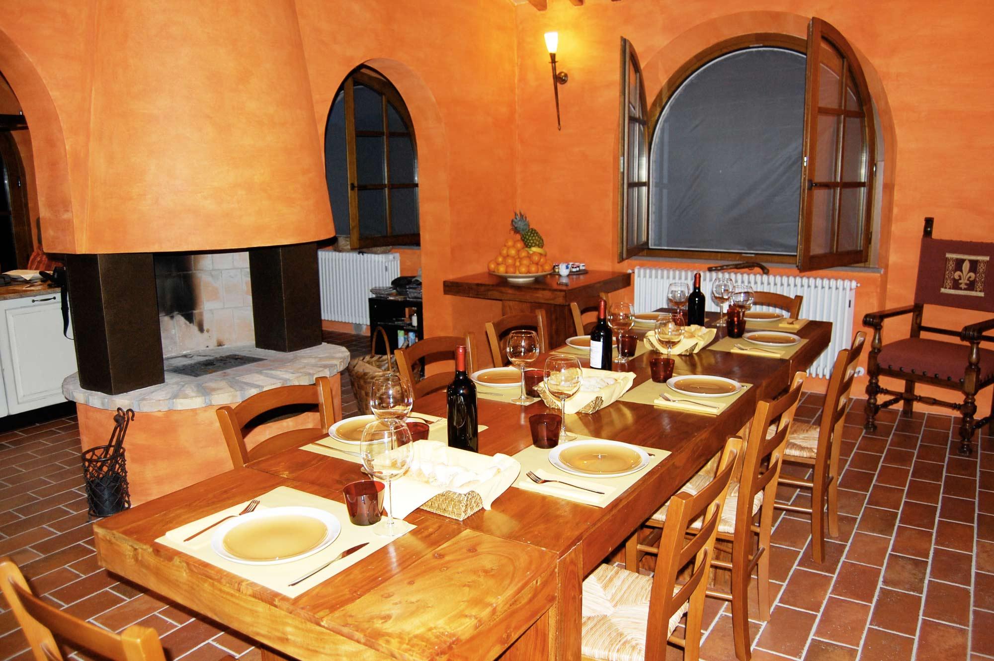 tuscany villa half board service