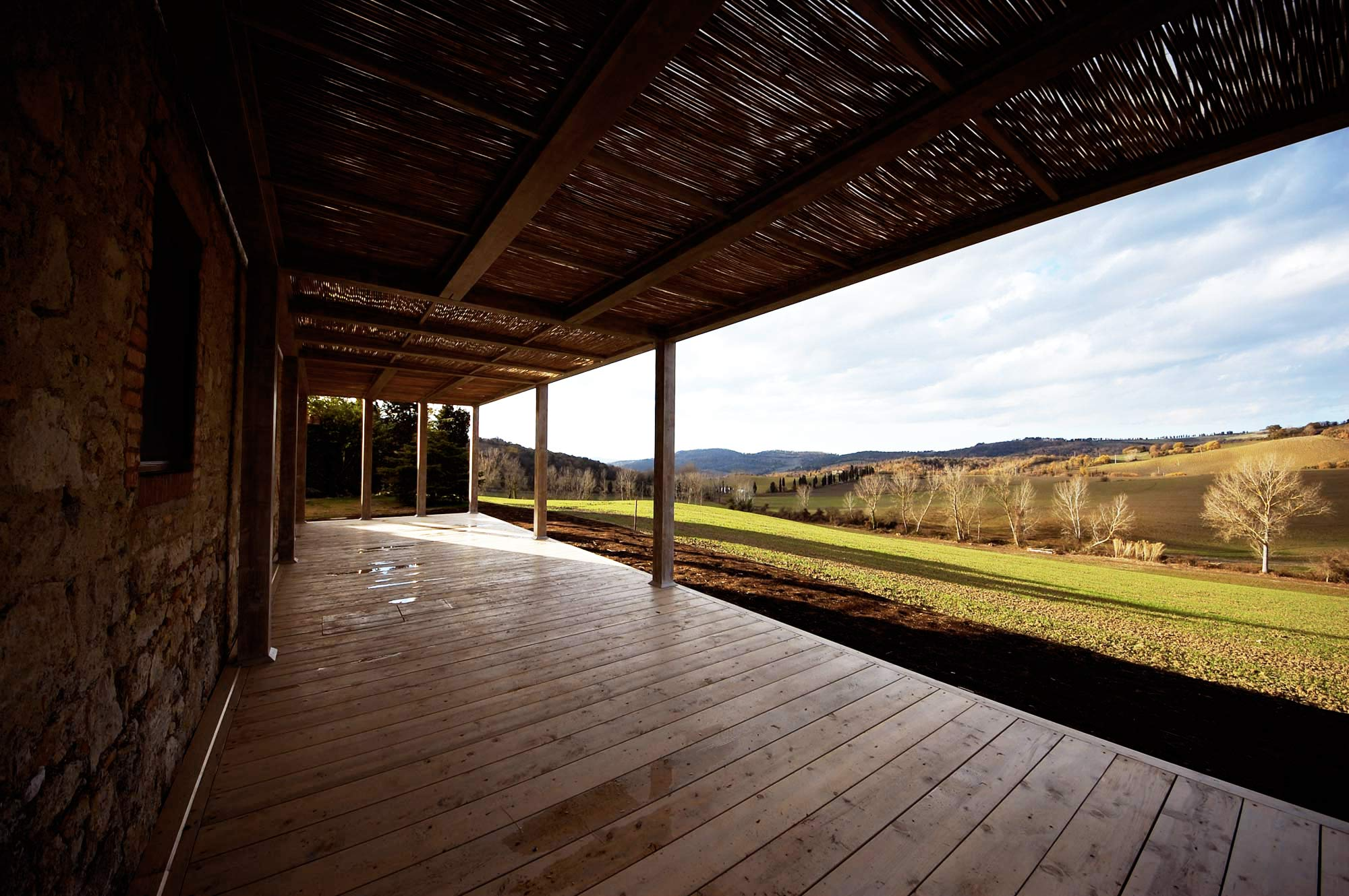 pergola of the tuscan farmhouse