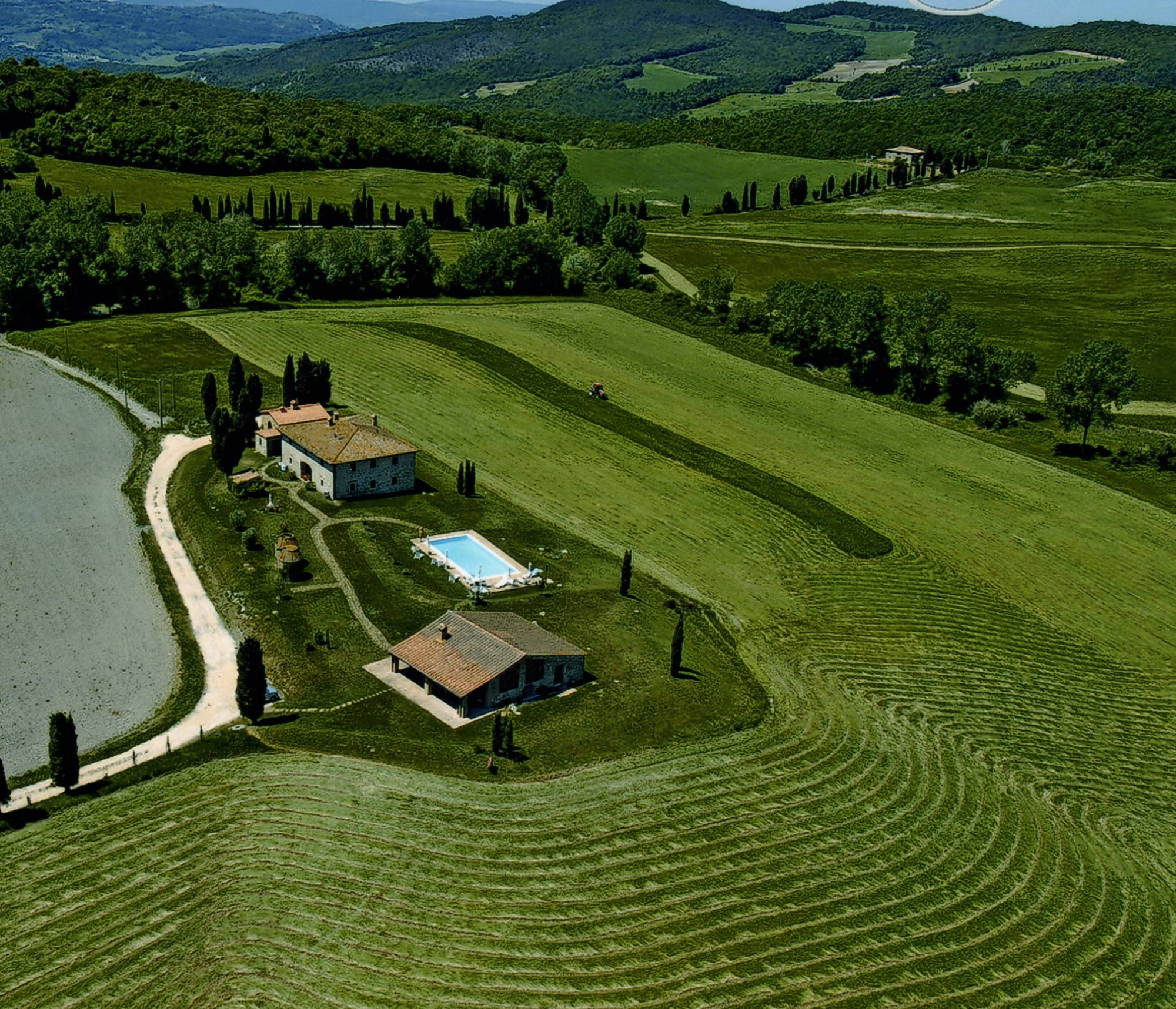 tuscany villa on topo of the hill