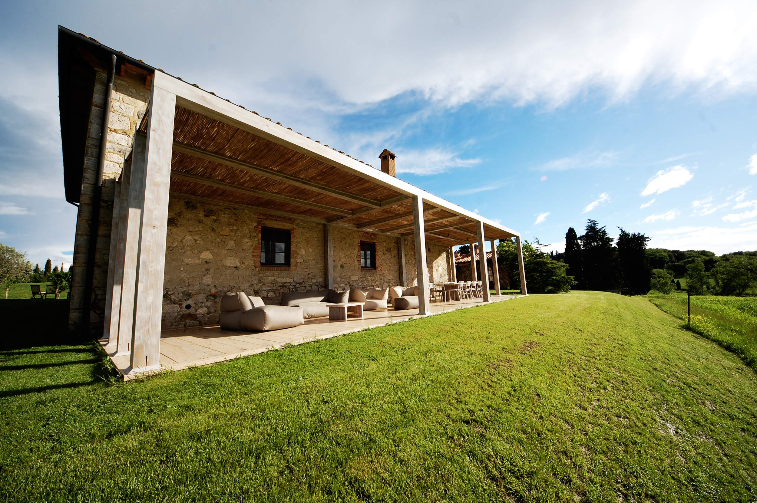 large pergola of tuscany villa