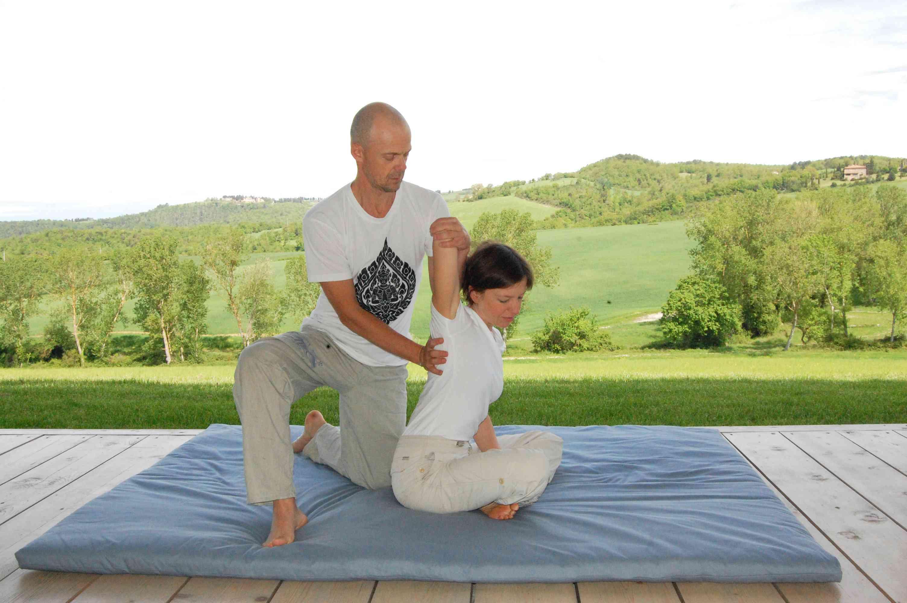 tuscan thai massage at the villa