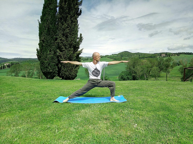 Yoga in tuscany villa
