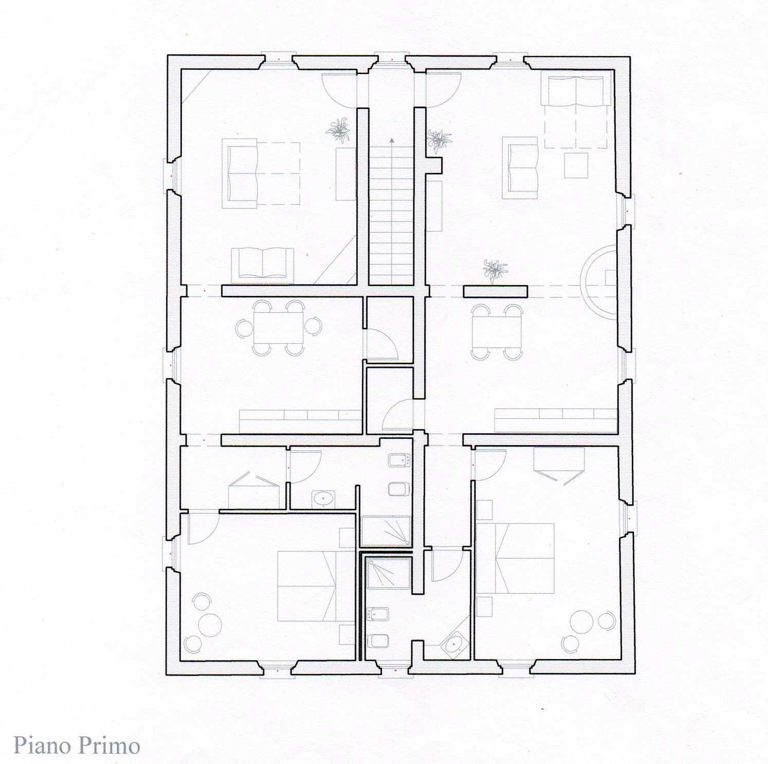 volterra indipendent villa first floor
