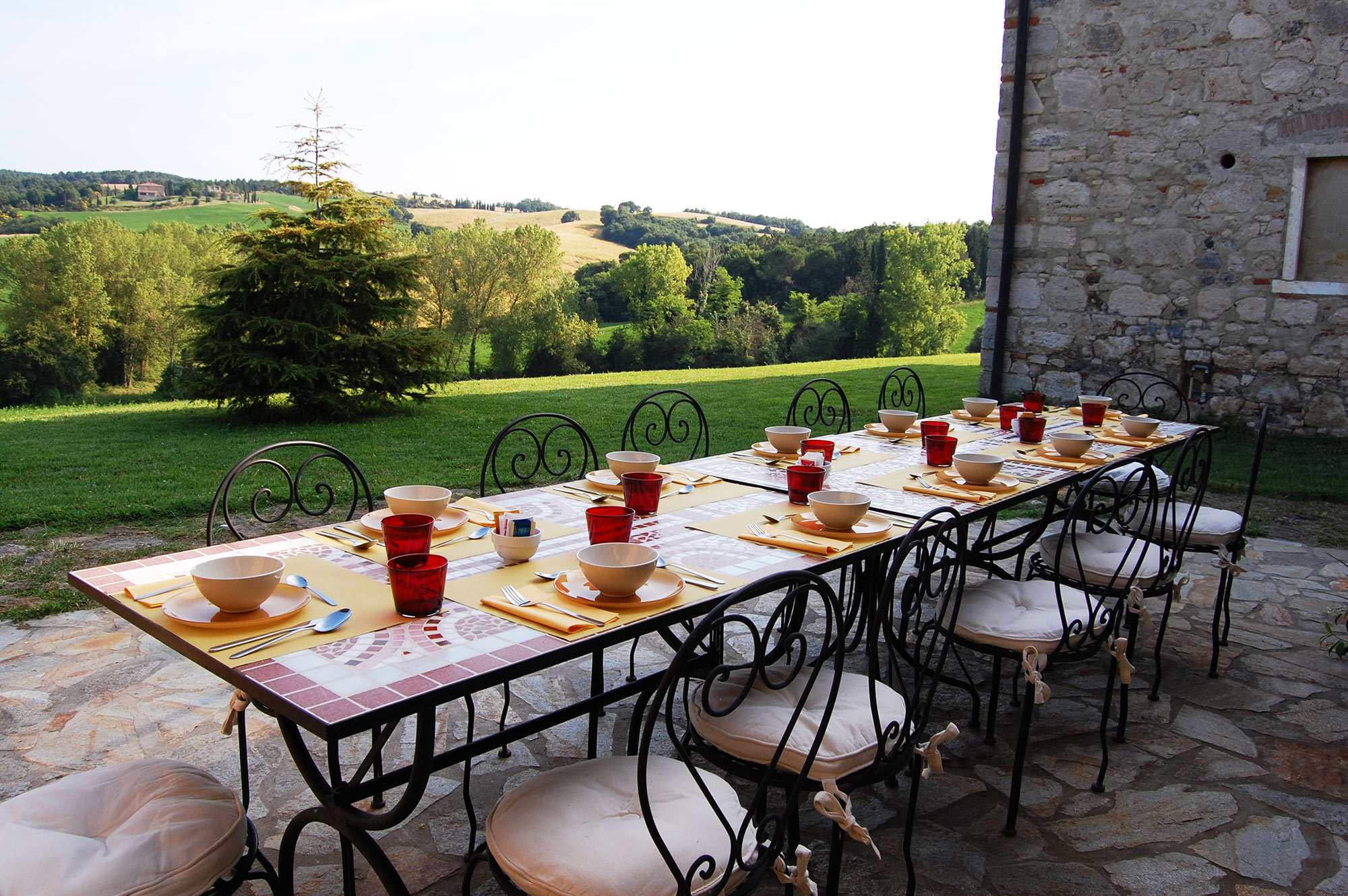 tuscan villa catering in volterra